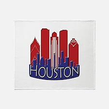 Houston Skyline NewWave Patriot Throw Blanket