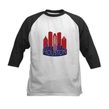 Houston Skyline NewWave Patriot Tee