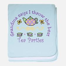 Tea Parties baby blanket