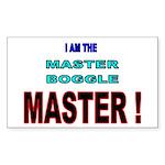 I am the Master Boggle MASTER Sticker (Rectangular