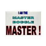 I am the Master Boggle MASTER Rectangle Magnet (10