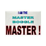 I am the Master Boggle MASTER Rectangle Magnet