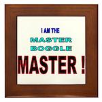 I am the Master Boggle MASTER Framed Tile