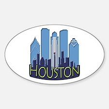 Houston Skyline NewWave Cool Decal