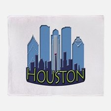 Houston Skyline NewWave Cool Throw Blanket