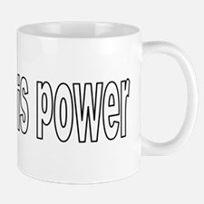 blogging is power funky Mugs