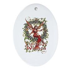Cute Wicca Ornament (Oval)