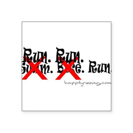 """runrunrun Square Sticker 3"""" x 3"""""""