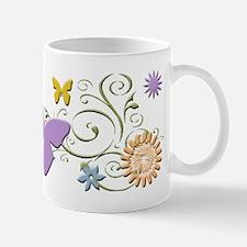 Floral Butterfly Medley Mug