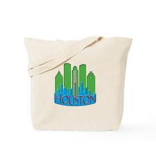 Houston Skyline NewWave Primary Tote Bag