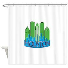 Houston Skyline NewWave Primary Shower Curtain