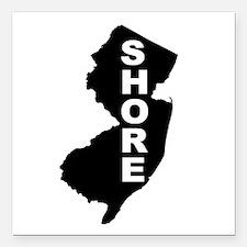 "Jersey Shore Square Car Magnet 3"" x 3"""