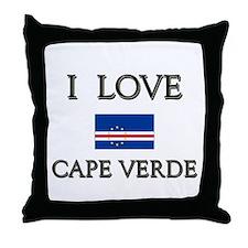 I Love Cape Verde Throw Pillow