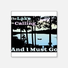 The Lake is Calling and I Must Go Square Sticker 3