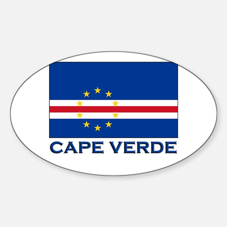 Cape Verde Flag Merchandise Oval Decal