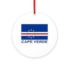 Cape Verde Flag Merchandise Ornament (Round)