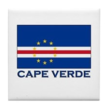 Cape Verde Flag Merchandise Tile Coaster
