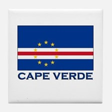 Cape Verde Flag Merchandise Tile Coaster