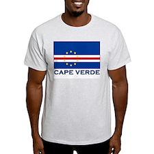 Cape Verde Flag Merchandise Ash Grey T-Shirt