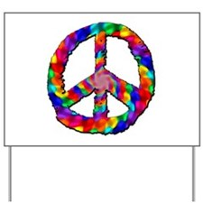 Psychedelic Peace Sign Yard Sign
