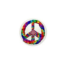 Psychedelic Peace Sign Mini Button