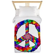 Psychedelic Peace Sign Twin Duvet