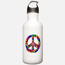 Psychedelic Peace Sign Water Bottle