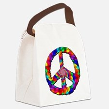 Psychedelic Peace Sign Canvas Lunch Bag