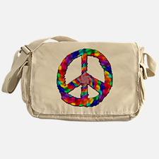 Psychedelic Peace Sign Messenger Bag