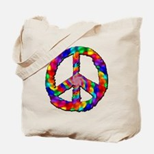 Psychedelic Peace Sign Tote Bag