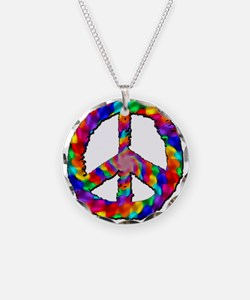 Psychedelic Peace Sign Necklace