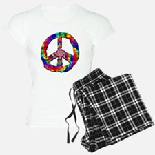 Psychedelic Peace Sign Pajamas