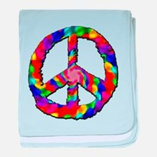 Psychedelic Peace Sign baby blanket