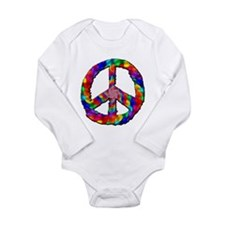 Psychedelic Peace Sign Long Sleeve Infant Bodysuit