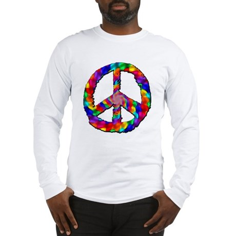 Psychedelic Peace Sign Long Sleeve T-Shirt