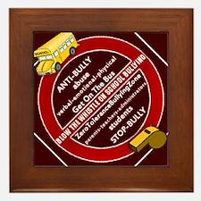 Blow the Whistle on School Bullying Framed Tile