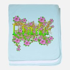 Linda Floral Lavender Flowers yellow Gold baby bla