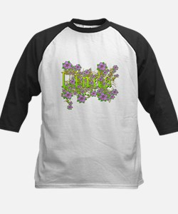 Linda Floral Lavender Flowers yellow Gold Tee