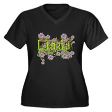 Linda Floral Lavender Flowers yellow Gold Women's