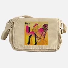 H for Hen Messenger Bag