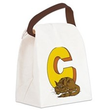 C For Cat Canvas Lunch Bag