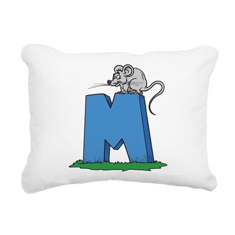 M For Mouse Rectangular Canvas Pillow