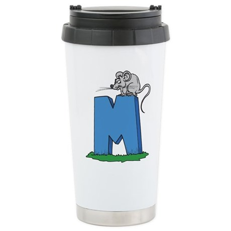 M For Mouse Stainless Steel Travel Mug