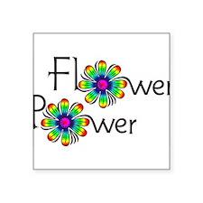 "Flower Square Sticker 3"" x 3"""