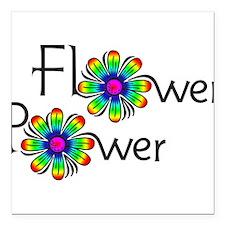"Flower Square Car Magnet 3"" x 3"""