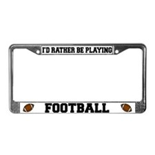 Football License Plate Frame