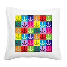 Pop Art Anchor Square Canvas Pillow