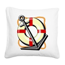 Life Save Anchor Square Canvas Pillow