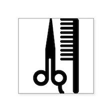 """Barber Square Sticker 3"""" x 3"""""""