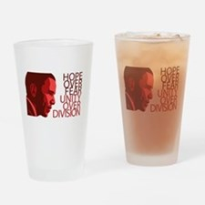 Obama Red Tones Drinking Glass